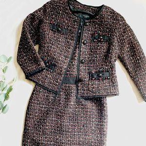 TAHARI | ASL | tweed dress & suit jacket EUC sz 6